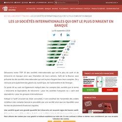 Les 10 sociétés internationales qui ont le plus d'argent en banque