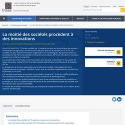 La moitié des sociétés procèdent à des innovations - Insee Première - 1709