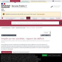 Impôt sur les sociétés : report de déficit - professionnels
