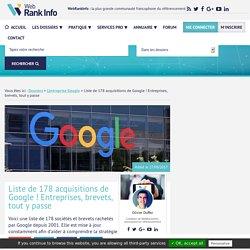 Liste des sociétés rachetées par Google