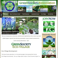 Green Society Association :: Welcome