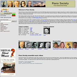 Piano Society - Free Classical Recordings