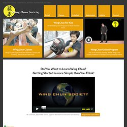 Wing Chun Society - Self Defense and Martial Arts Westchester New York
