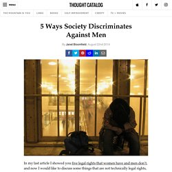 5 Ways Society Discriminates Against Men