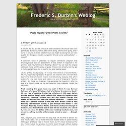 Frederic S. Durbin's Weblog