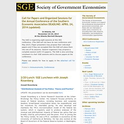 The Society of Government Economists