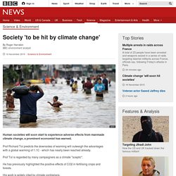 Society 'to be hit by climate change'