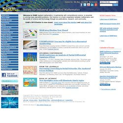 SIAM: Society for Industrial and Applied Mathematics