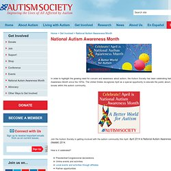 Autism Society - National Autism Awareness Month