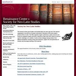 Society for Neo-Latin Studies