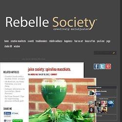 Juice Society: Spirulina Macchiato