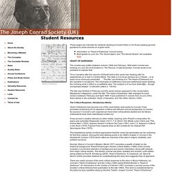 Joseph Conrad Society (UK) - Student Resources