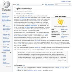 Triple Nine Society