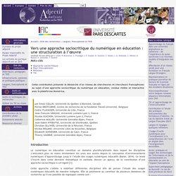 Vers une approche sociocritique du numérique en éducation : une structuration à l'œuvre