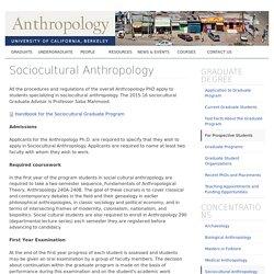 Anthropology Department, UC Berkeley