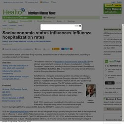 Socioeconomic status influences influenza hospitalization rates