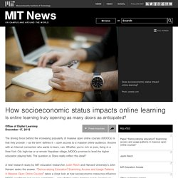 How socioeconomic status impacts online learning