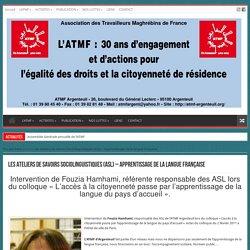 Les Ateliers de savoirs Sociolinguistiques (ASL) – Apprentissage de la langue française