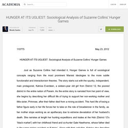 HUNGER AT ITS UGLIEST: Sociological Analysis of Suzanne Collins' Hunger Games