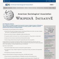 ASA Wikipedia Initiative