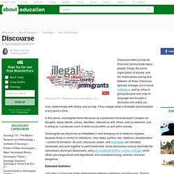 Discourse: A Sociological Definition