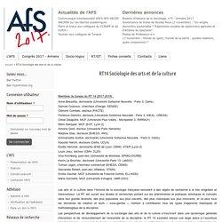 RT14 Sociologie des arts et de la culture