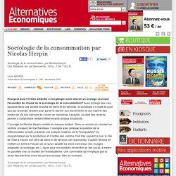 Sociologie de la consommation par Nicolas Herpin