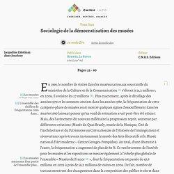 Sociologie de la démocratisation des musées