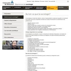 Qu'est-ce que la sociologie?- Département de sociologie - Université de Montréal