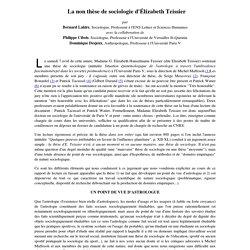 La non thèse de sociologie d'Elisabeth Teissier - Analyse de la thèse de Madame Élisabeth Teissier