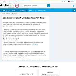Cours Sociologie en ligne : Ressources de Sociologie gratuites