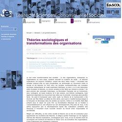 Théories sociologiques et transformations des organisations