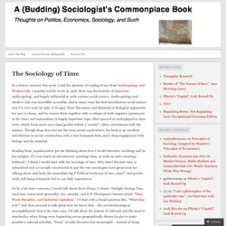 The Sociology of Time « A