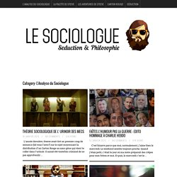 L'Analyse du Sociologue Archives