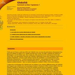 AGROPOLIS - MONTPELLIER : Obésité Résumé de la conférence donnée à Agropolis Museum le 5 juin 2002 Comment arrêter l'épidémie ?