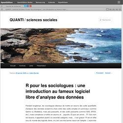 R pour les sociologues : une introduction au fameux logiciel libre d'analyse des données