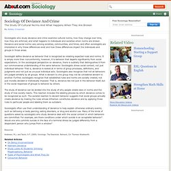 Sociology Of Deviance And Crime
