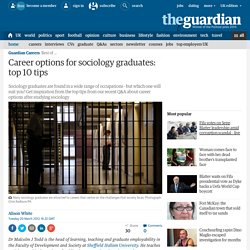 Career options for sociology graduates: top 10 tips