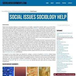 Social issues Sociology Homework & Assignment Help