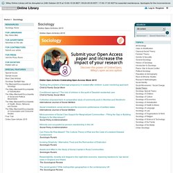 Sociology - Online Open Articles 2015