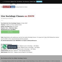 Sociology Optional Live Classes - by Bibhash Sharma