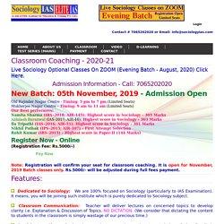 Sociology Optional Coaching in Delhi