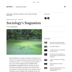 Sociology's Stagnation