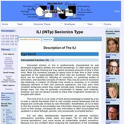 Socionics Types: ILI-INTp