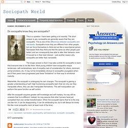 SociopathWorld: Do sociopaths know they are sociopaths?
