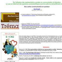 Représentations sociales et enseignement de questions socioscientifiques...