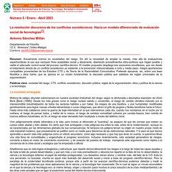 La resolución discursiva de los conflictos sociotécnicos: Hacia un modelo diferenciado de evaluación social de tecnologías