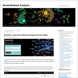 SocioViz: a free Social Network Analysis tool for Twitter