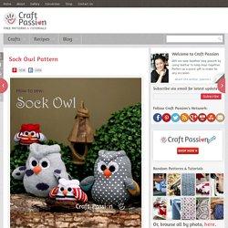 Sock Owl - Free Sew Pattern