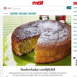 Sockerkaka vaniljfylld – Allt om Mat